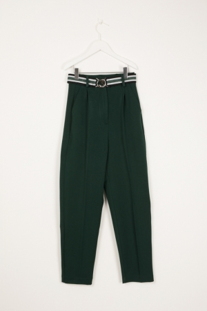 TROUSERS WITH ELASTIC BELT logo