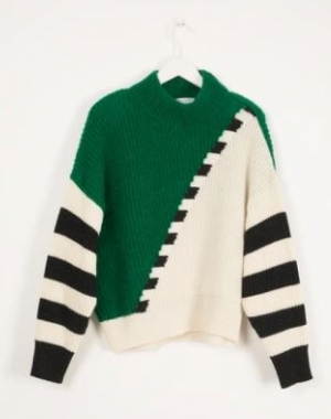 GRAPHIC KNIT SWEATER logo